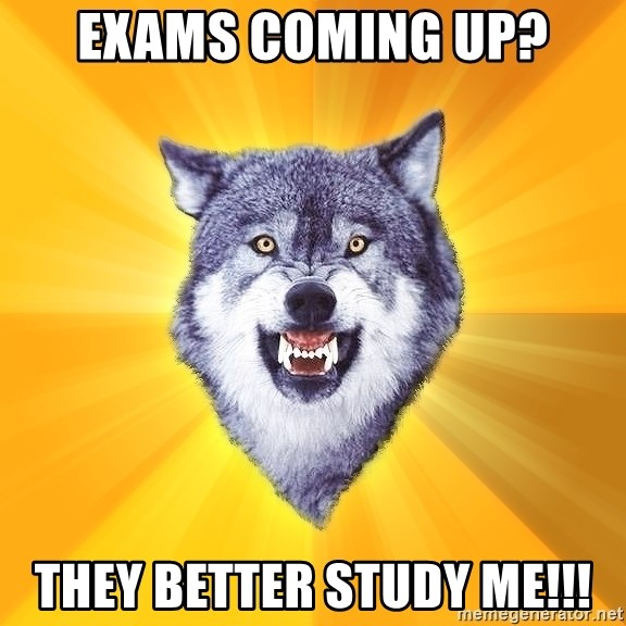 Courage Wolf - exams coming up? they better study me!!!