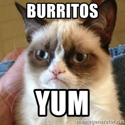 Grumpy Cat  - Burritos YUM