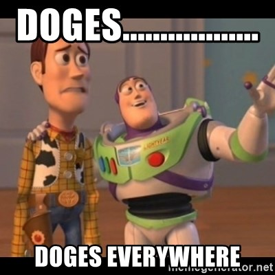 X, X Everywhere  - Doges.................. Doges everywhere