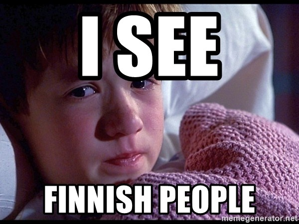 Sixth Sense Boy - I SEE Finnish people
