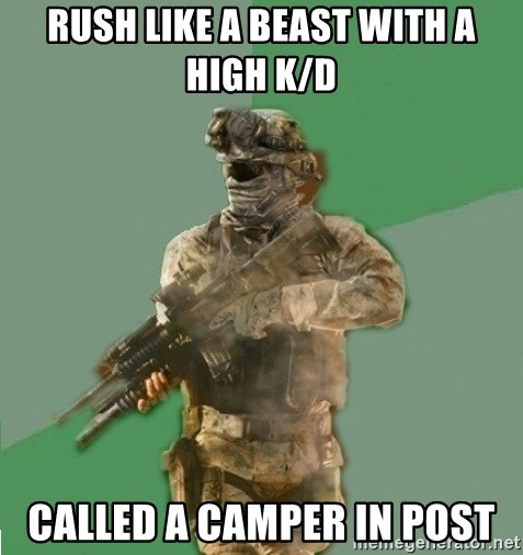 philosoraptor call of duty - Rush like a beast with a high k/d Called a camper in post