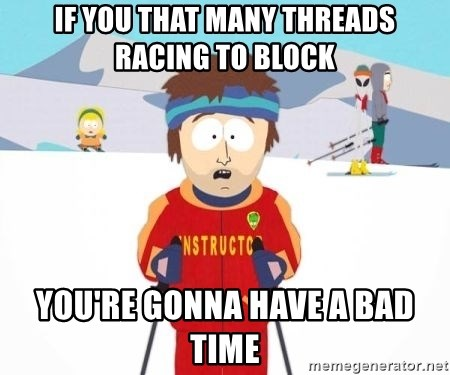 South Park Ski Teacher - if you that many threads racing to block you're gonna have a bad Time