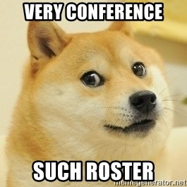Dogeeeee - very conference such roster