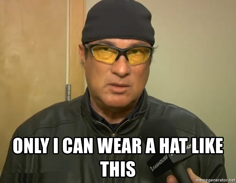 Steven Seagal Mma -  only i can wear a hat like this