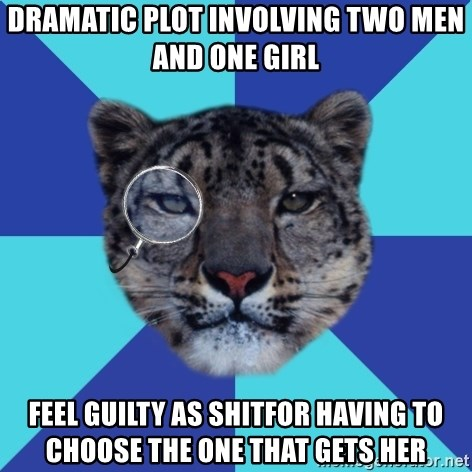 Writer Leopard - Dramatic plot involving two men and one girl Feel guilty as shitfor having to choose the one that gets her