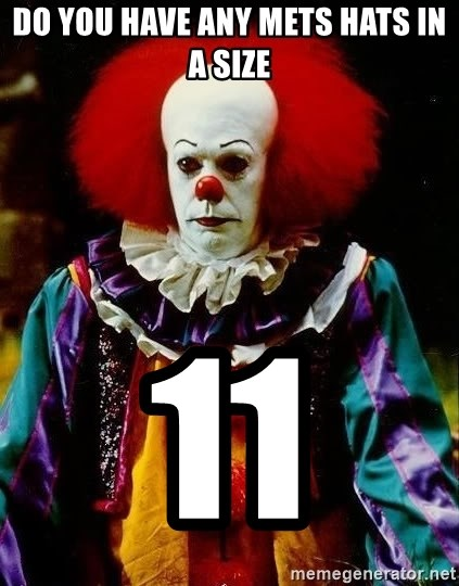 it clown stephen king - do you have any mets hats in a size 11