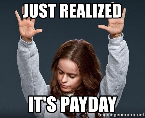 Praise Jesus girl - Just realized It's payday