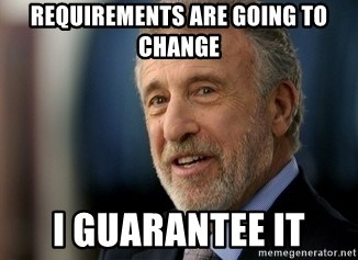 Mens Warehouse Guy - Requirements are Going to change I Guarantee it