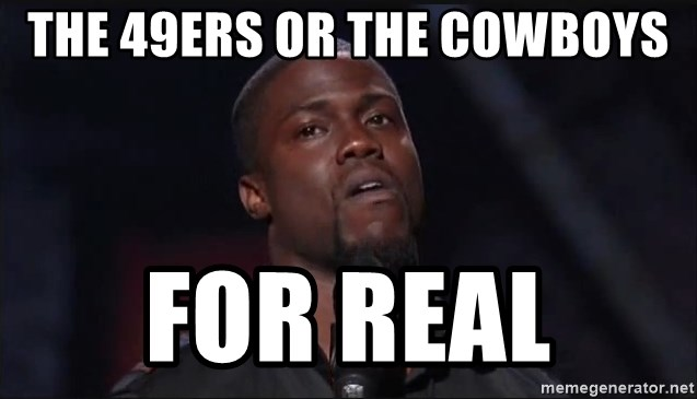 Kevin Hart Face - The 49ers or the Cowboys For real