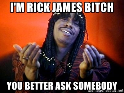 46680762 i'm rick james bitch you better ask somebody rick james its,Better Ask Somebody Meme