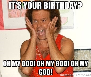 Richard Simmons Screaming - It's Your Birthday? Oh my god! Oh My God! Oh My god!