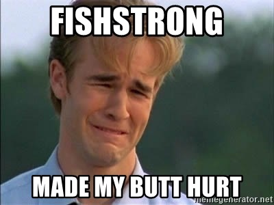 James Van Der Beek - fishstrong  made my butt hurt