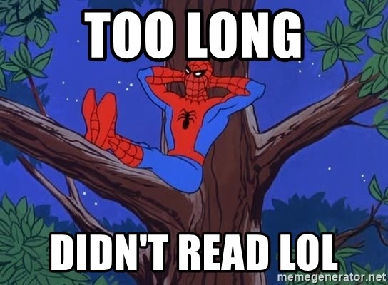 Spiderman Tree - Too long Didn't read lol