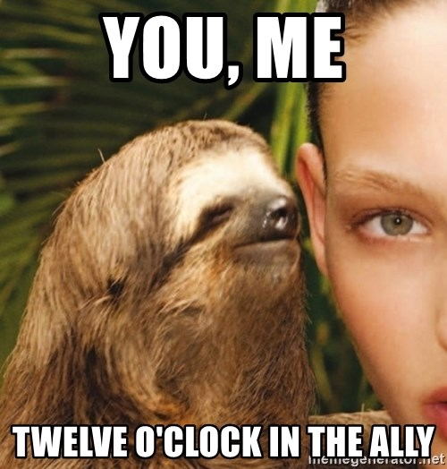 The Rape Sloth - you, me twelve o'clock in the ally