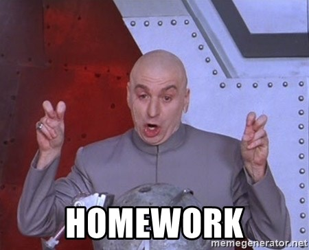Dr. Evil Air Quotes -  Homework
