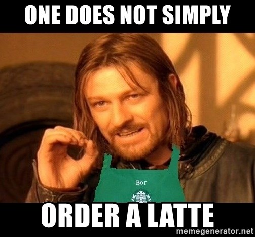 Barista Boromir - One does not simply order a latte