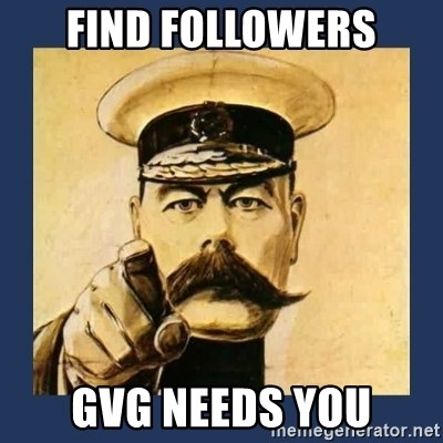 your country needs you - Find Followers GVG Needs You