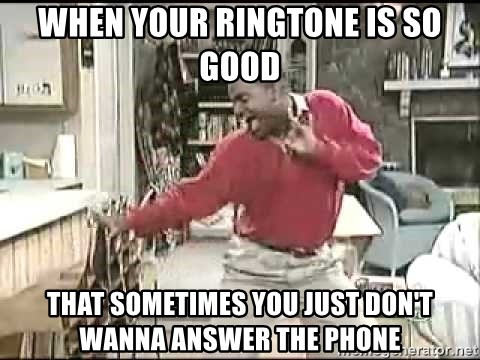 ringtone dont pick up the phone