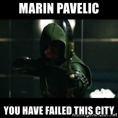 YOU HAVE FAILED THIS CITY - marin pavelic You have failed this city