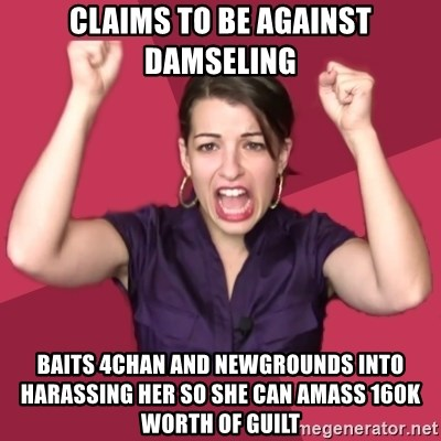 CLAIMS TO BE AGAINST DAMSELING BAITS 4CHAN AND NEWGROUNDS INTO