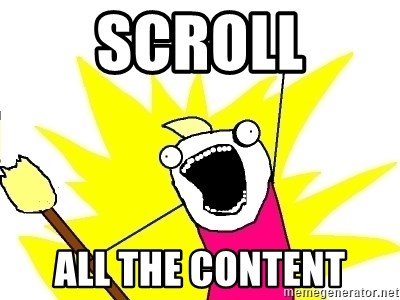 X ALL THE THINGS - SCROLL ALL THE CONTENT