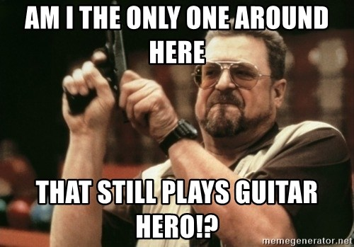 Walter Sobchak with gun - am i the only one around here that still plays guitar hero!?