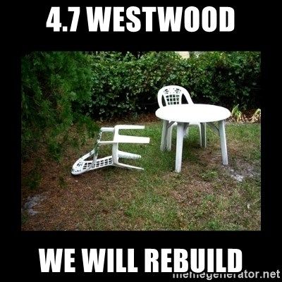 Lawn Chair Blown Over - 4.7 Westwood We will rebuild