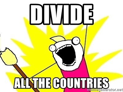 X ALL THE THINGS - DIVIDE ALL THE COUNTRIES