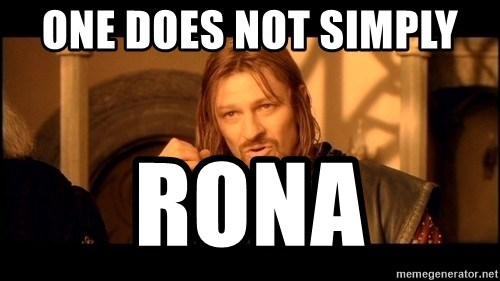 Lord Of The Rings Boromir One Does Not Simply Mordor - One Does Not Simply  RONA