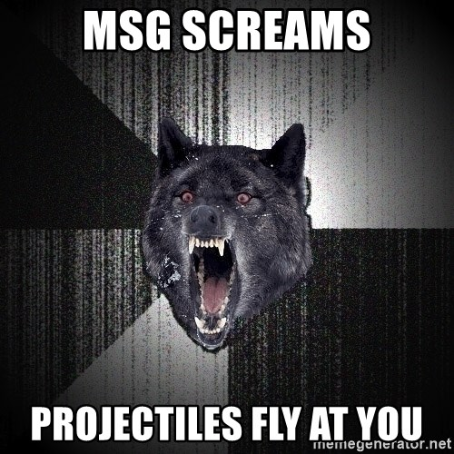 Insanity Wolf - MSG SCREAMS PROJECTILES FLY AT YOU
