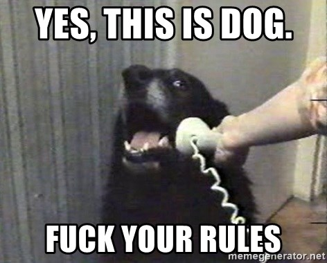 Fuck Your Rules