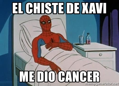 spiderman hospital - el chiste de xavi  me dio cancer