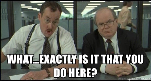 Office space - What...exactly is it that you do here?