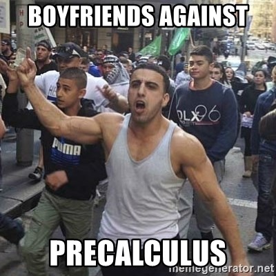 Western Muslim Protestor - Boyfriends against PreCalculus