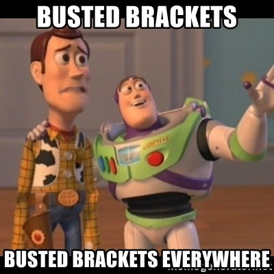 X, X Everywhere  - Busted brackets busted brackets everywhere