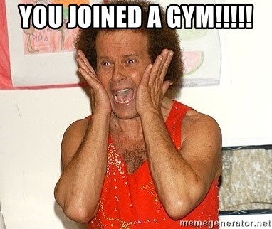 Richard Simmons Screaming - You joined a gym!!!!!