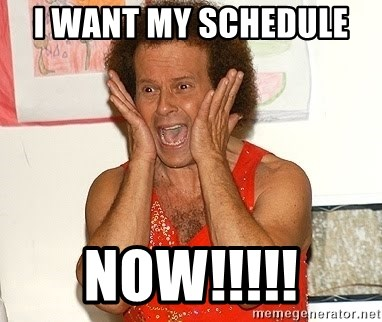 Richard Simmons Screaming - I want my schedule  NOW!!!!!