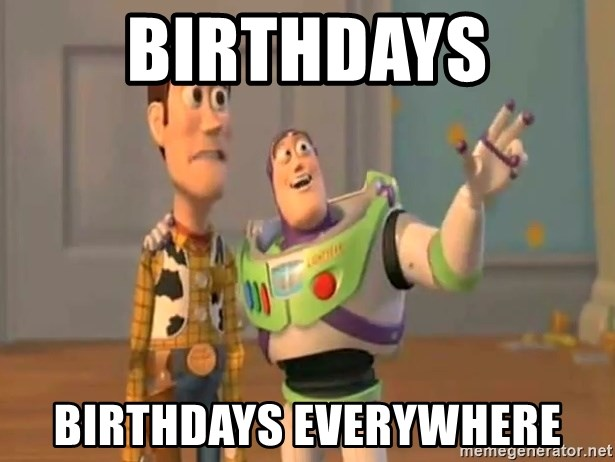 X, X Everywhere  - Birthdays birthdays everywhere