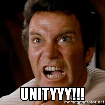 Kirk screaming Khan -  UNITYYY!!!