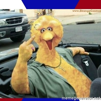 Big Bird Middle Finger -