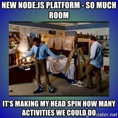 New Node js platform - So Much Room it's making my head spin