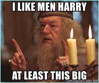 dumbledore fingers - I like men harry At least this big