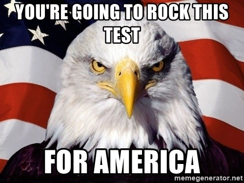 American Pride Eagle - You're going to rock this test For America