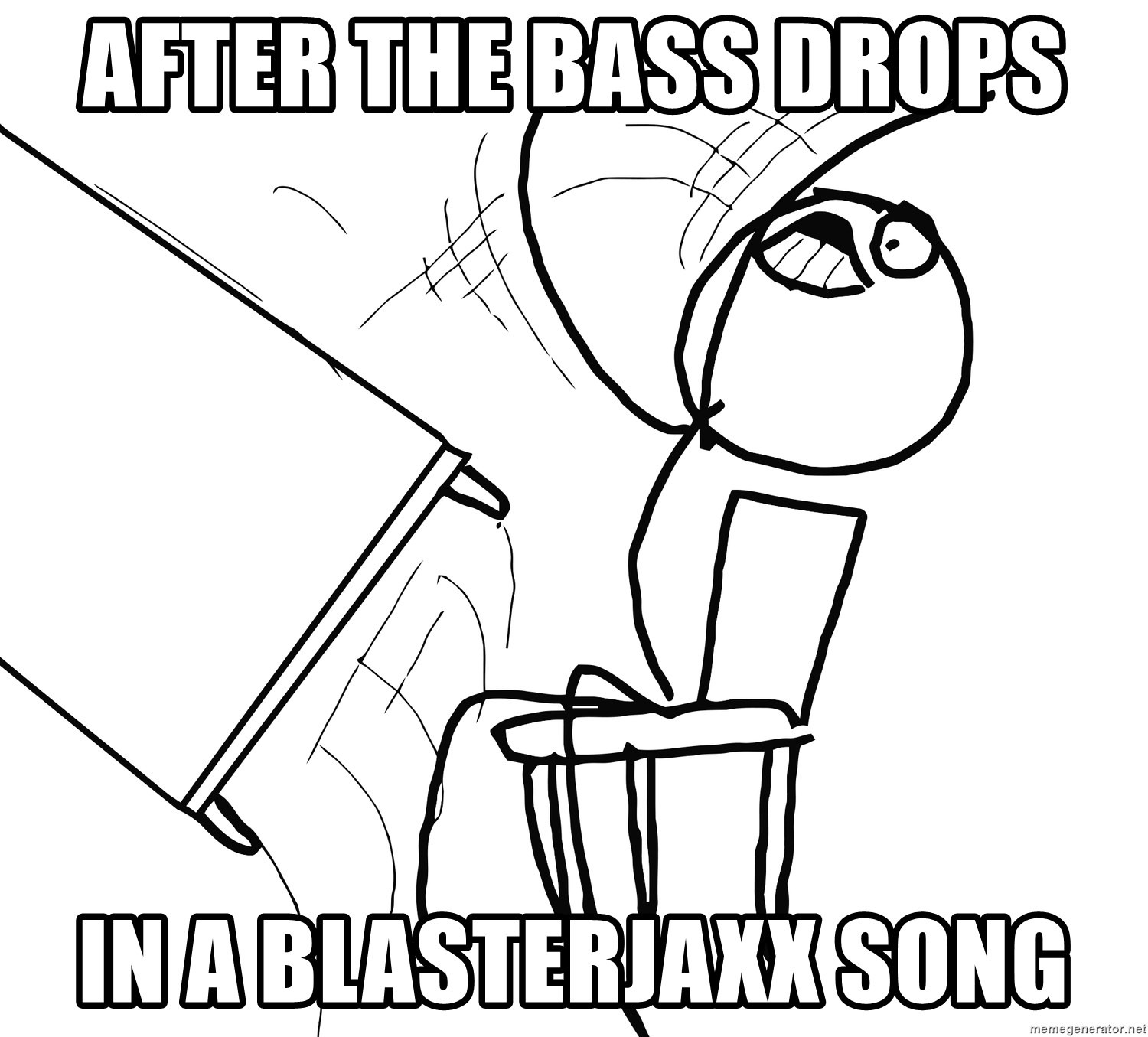Desk Flip Rage Guy - After The Bass Drops  In a Blasterjaxx Song
