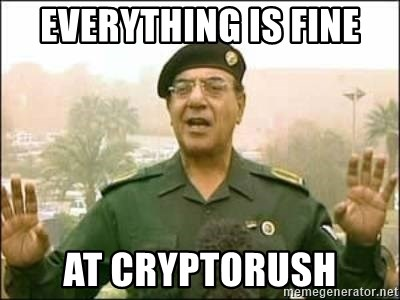 Iraqi Information Minister - everything is fine at cryptorush