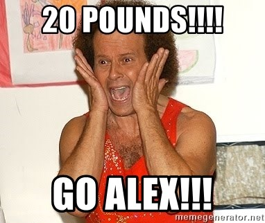 Richard Simmons Screaming - 20 Pounds!!!! Go Alex!!!