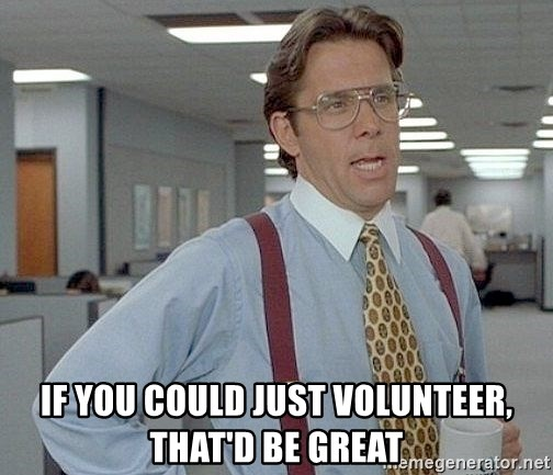 yeah if you could just write a 6 page paper over springbreak thatd be great - If you could just volunteer, that'd be great