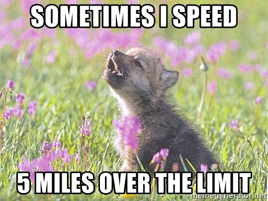 Baby Insanity Wolf - Sometimes I speed 5 miles over the limit