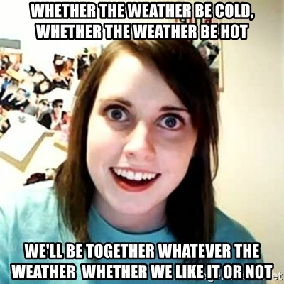 hot and cold girlfriend
