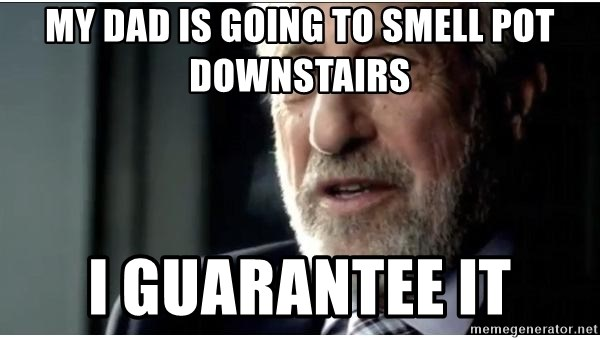 mens wearhouse - My dad is going to smell pot downstairs I guarantee it